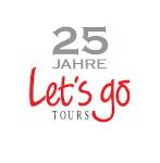 25 Jahre Let's go Tours Jubiläums Logo