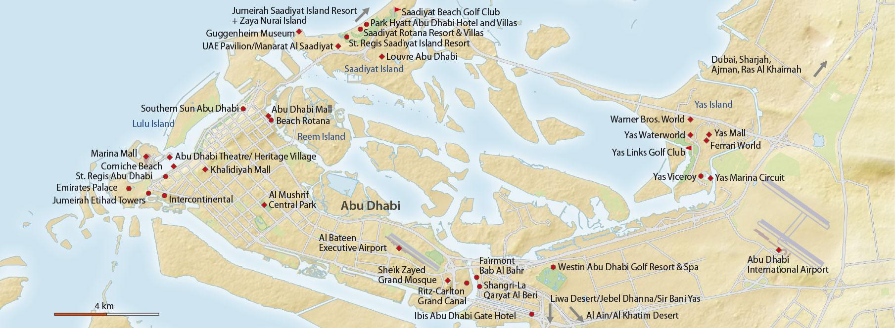 Karte Abu Dhabi
