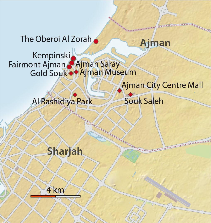 Karte Ajmam