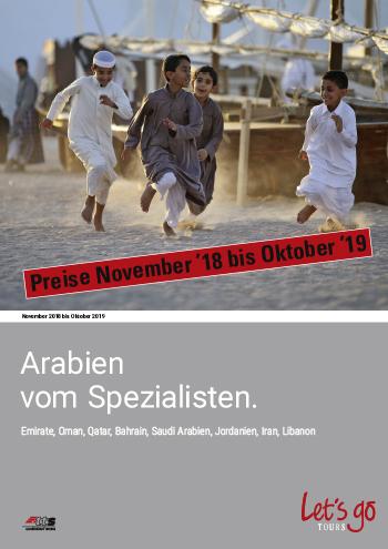 Preisliste Arabien