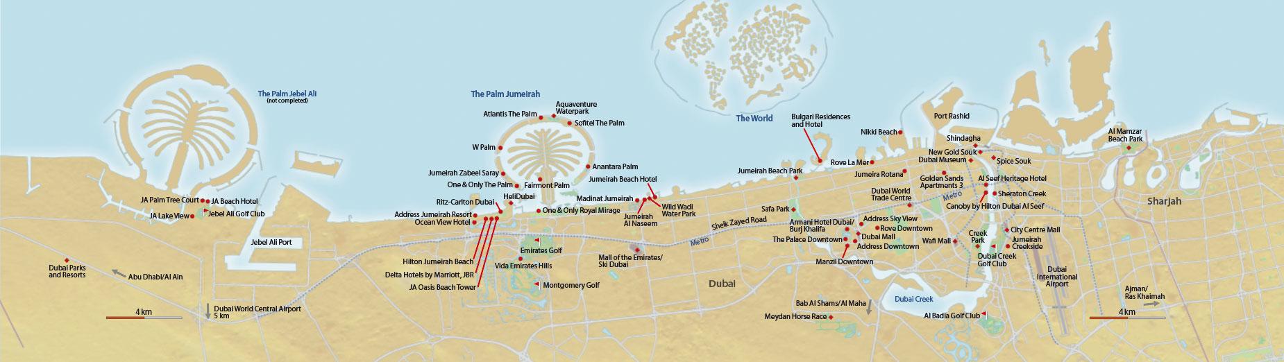 Dubai neue Karte