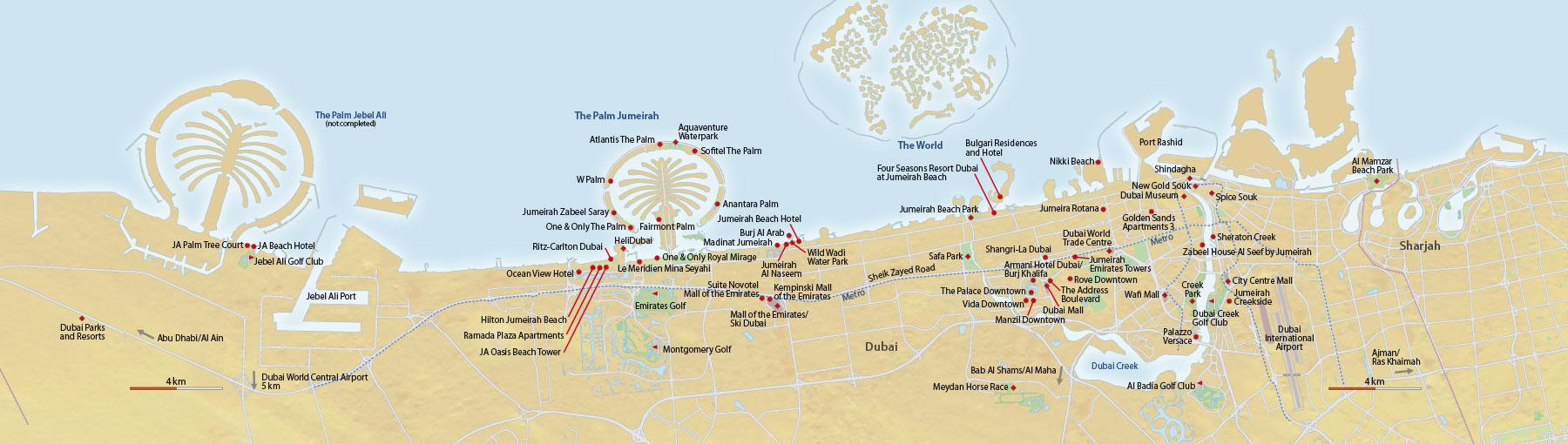 Karte Dubai