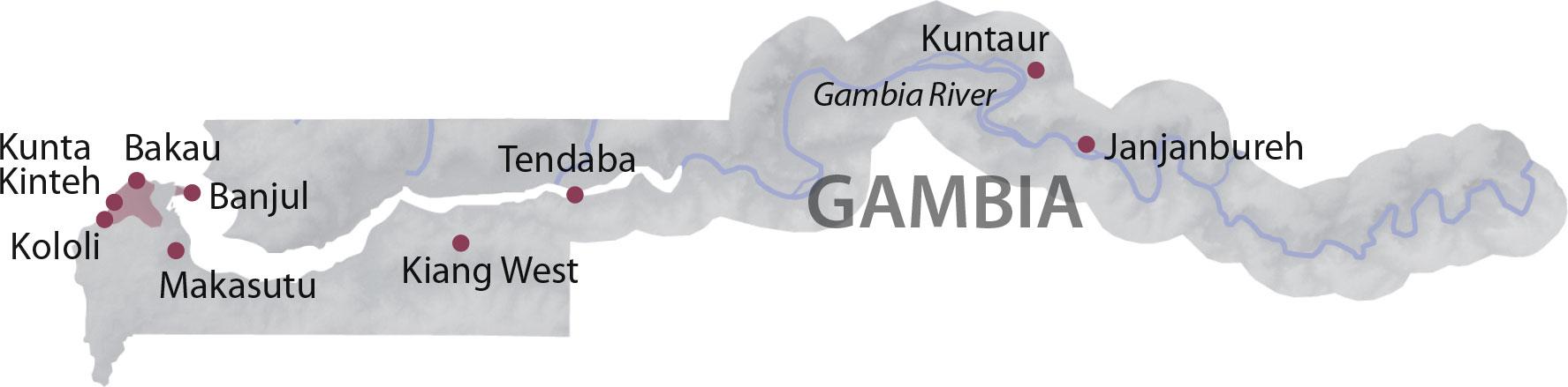 Karte Gambia