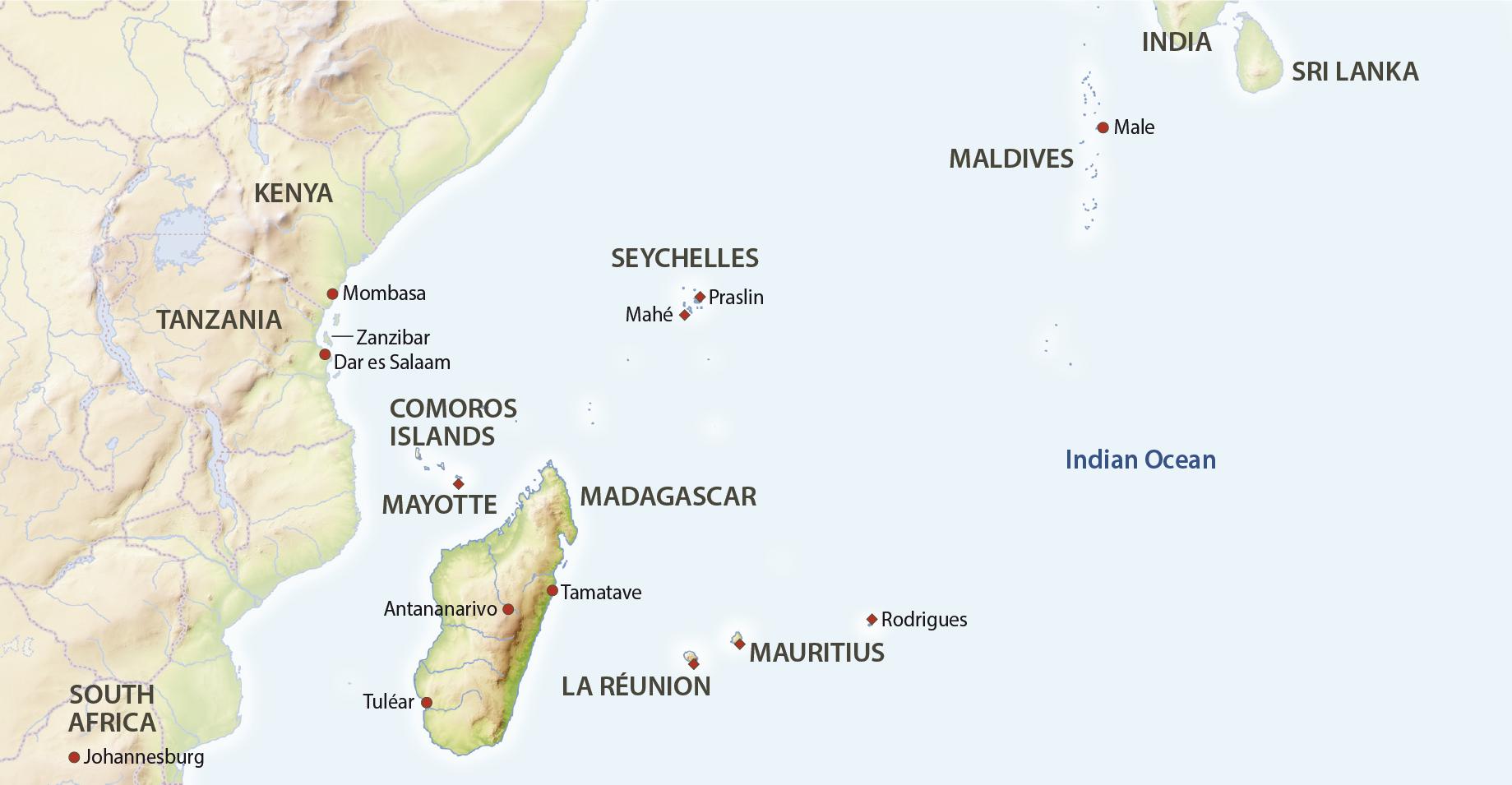 Karte Indischer Ozean