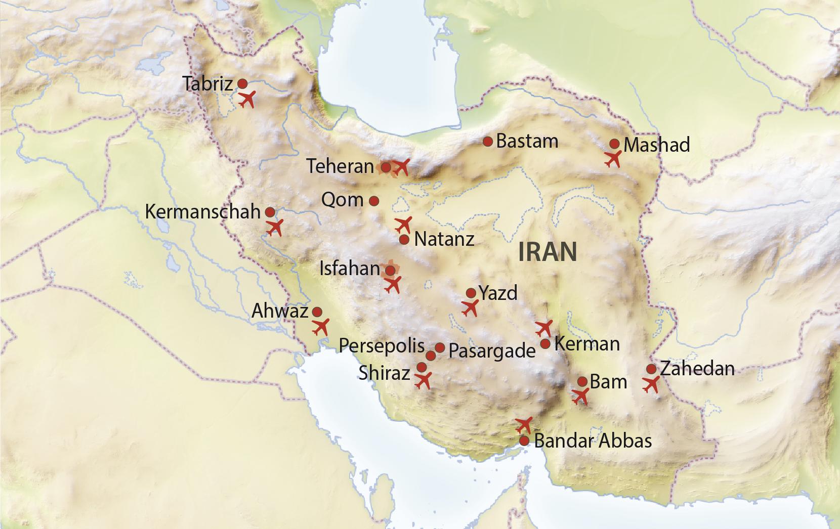 Karte vom Iran