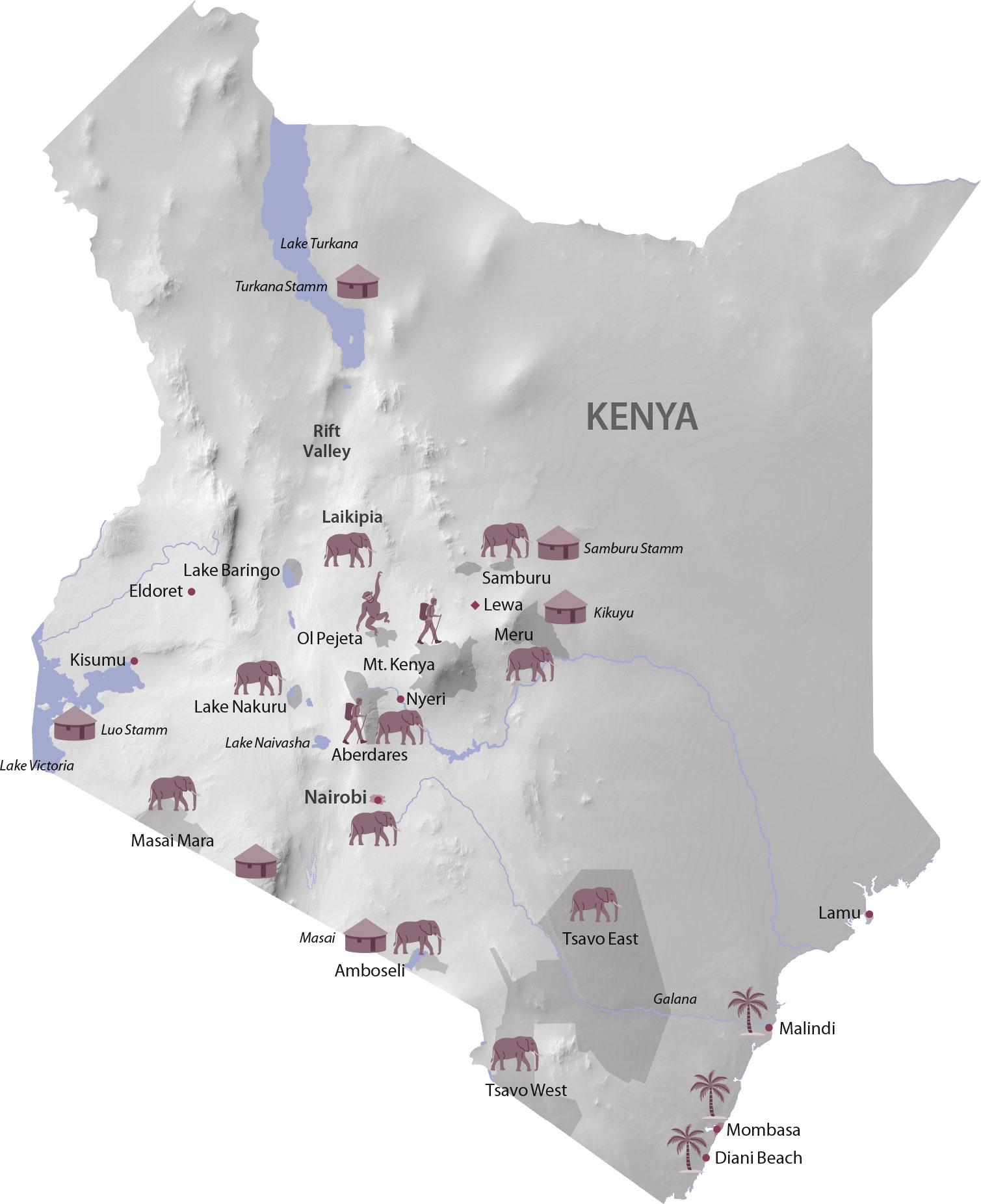 Karte Kenya