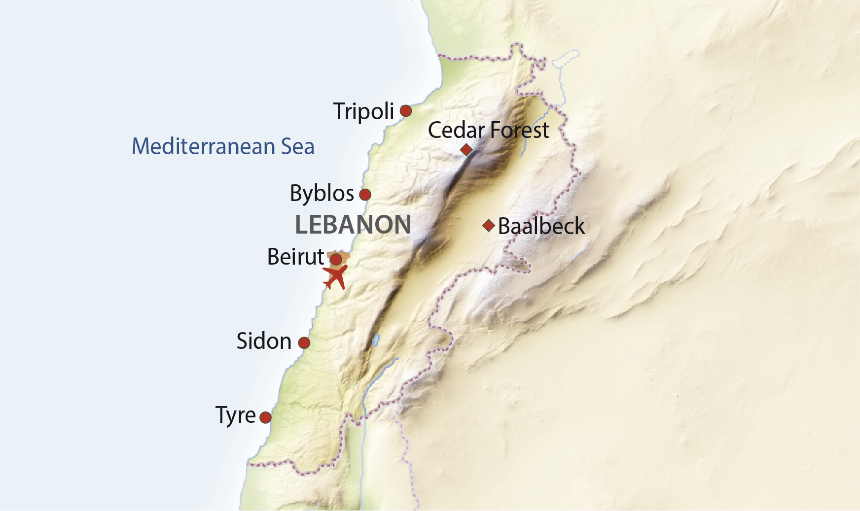 Karte Libanon