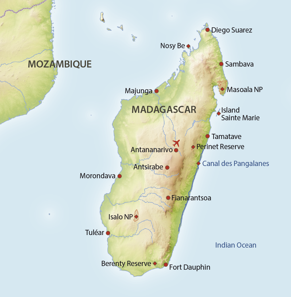 Karte Madagaskar