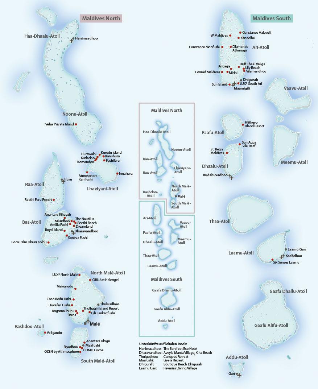 Malediven Karte
