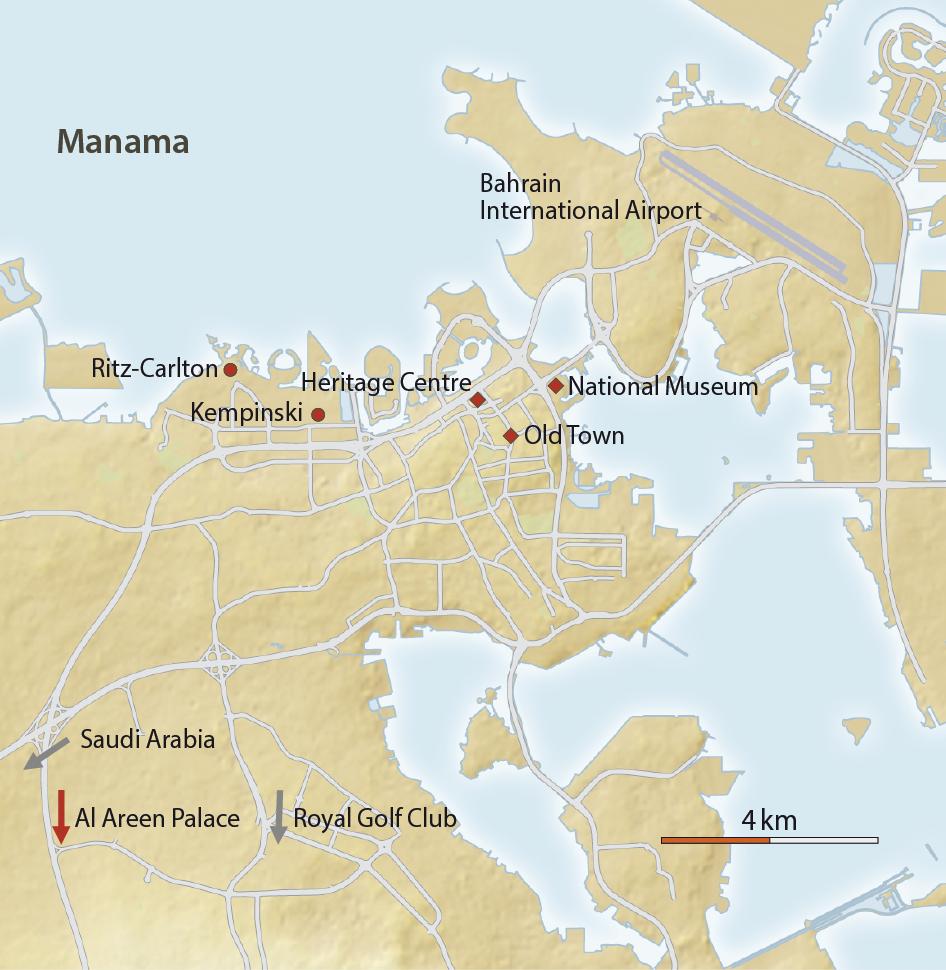 Karte von Manama - Bahrain