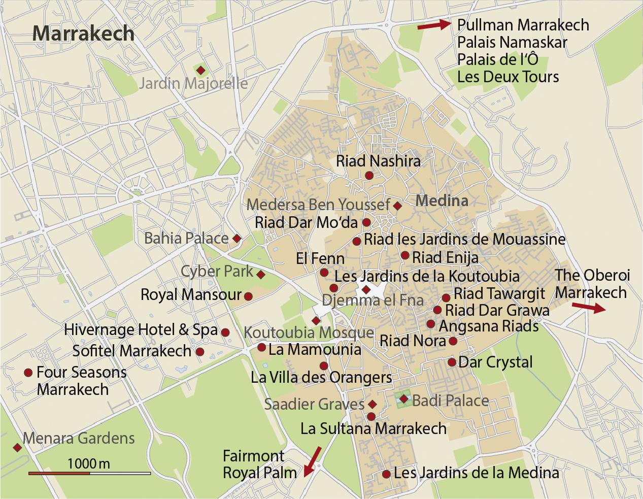 Karte Marrakesch