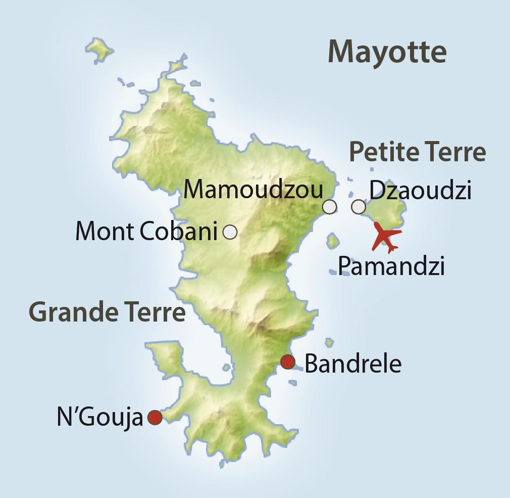 Karte Mayotte