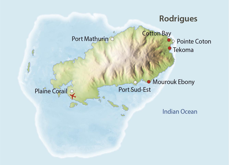 Karte Rodrigues