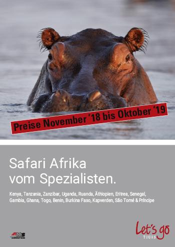 Preisliste Safari Afrika