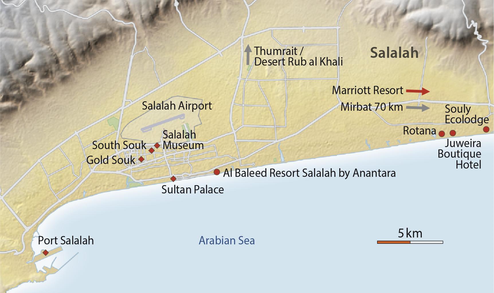 Karte Salalah