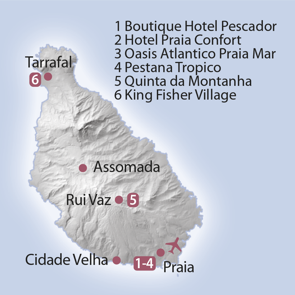 Karte Santiago