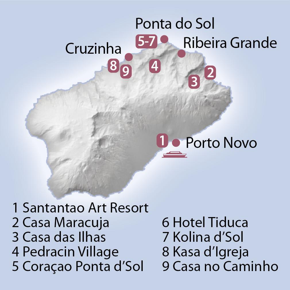 Karte Santo Antao