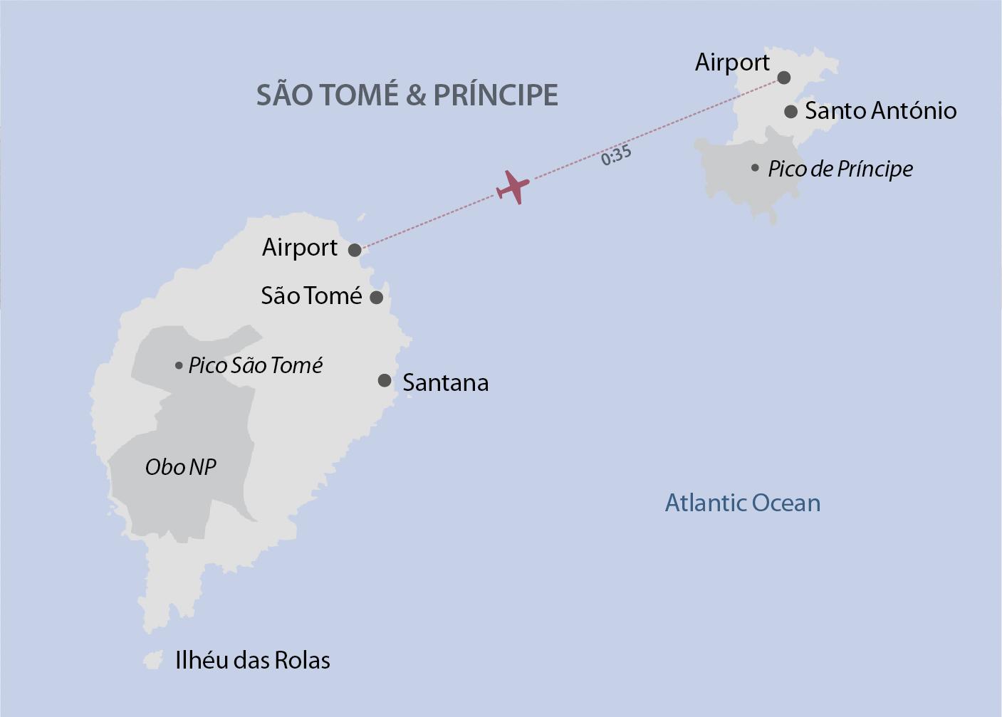 Karte Sao Tome & Principe