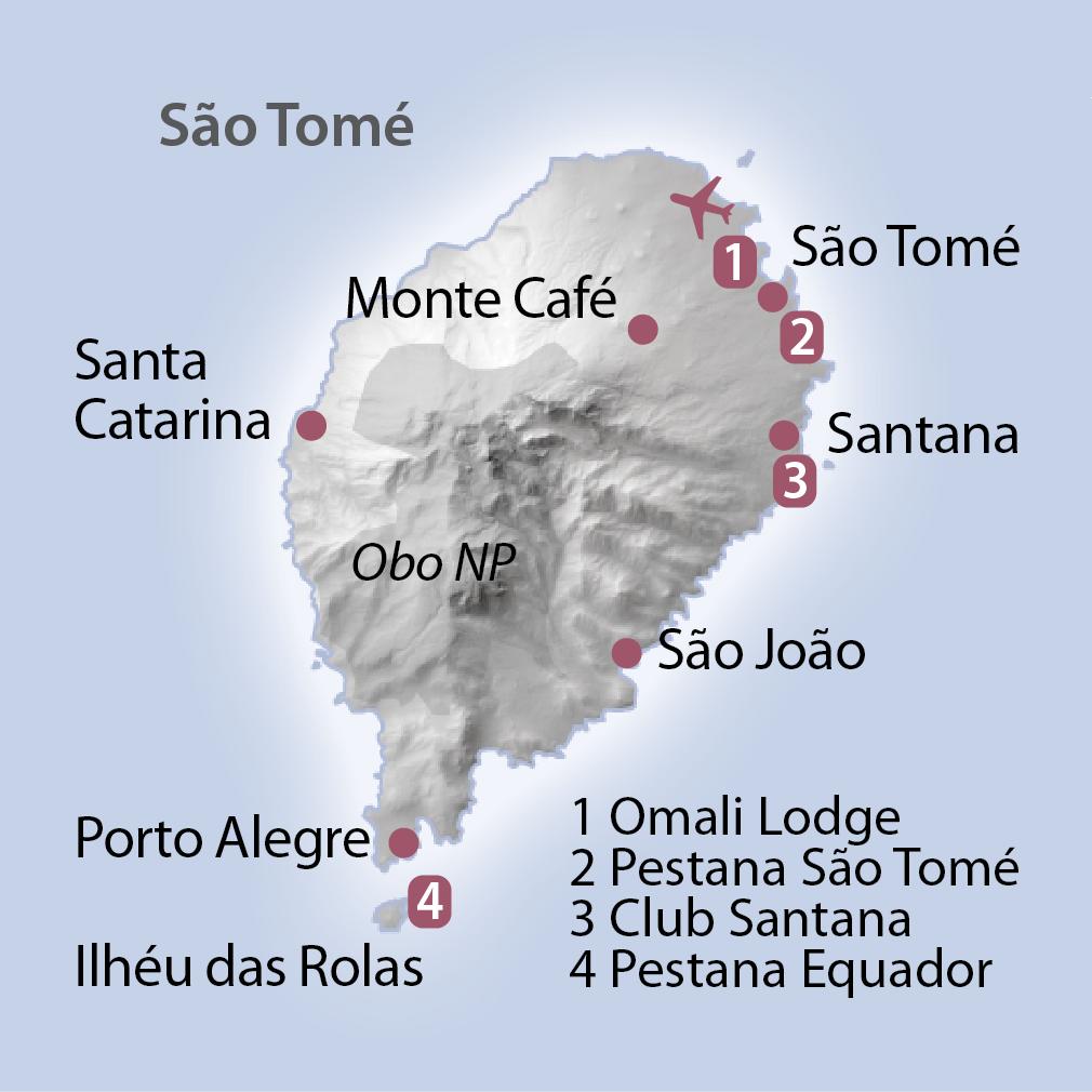 Karte Sao Tomé