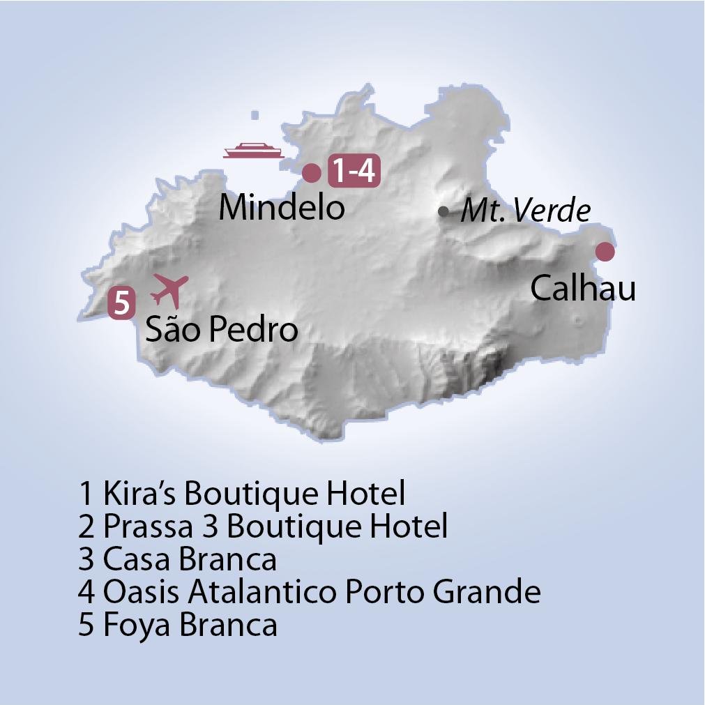 Karte Sao Vicente