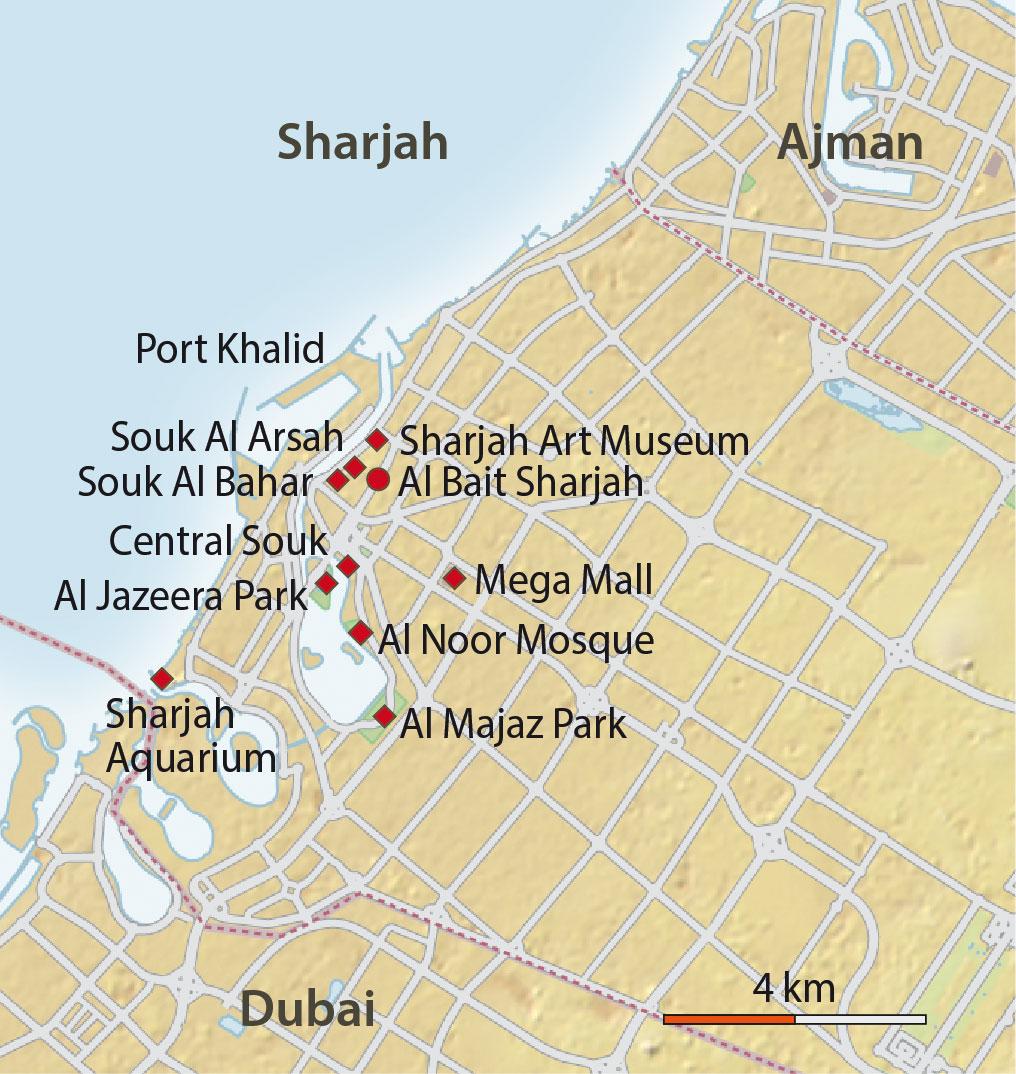 Karte Sharjah