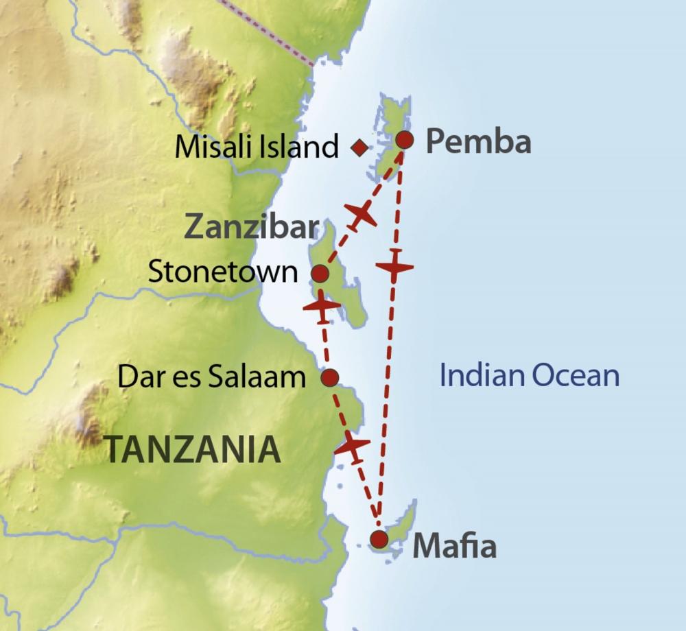 Inselhupfen Tanzania